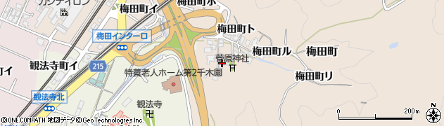 石川県金沢市梅田町(チ)周辺の地図