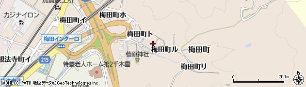 石川県金沢市梅田町(ル)周辺の地図