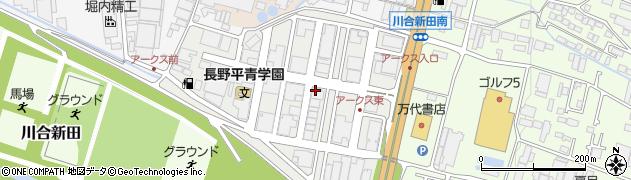 長野県長野市アークス周辺の地図