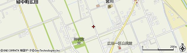富山県富山市婦中町広田周辺の地図
