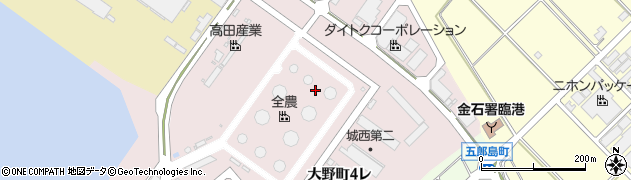 石川県金沢市大野町(4丁目レ)周辺の地図