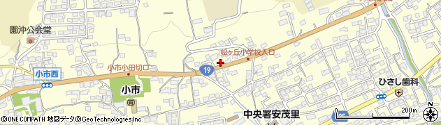 長野県長野市安茂里小市周辺の地図