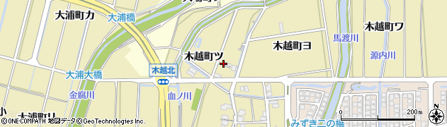 石川県金沢市木越町(ツ)周辺の地図
