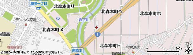 石川県金沢市北森本町(ヘ)周辺の地図