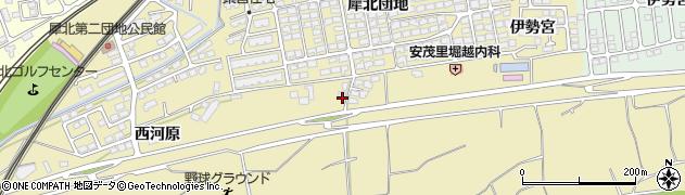 長野県長野市安茂里(犀北)周辺の地図