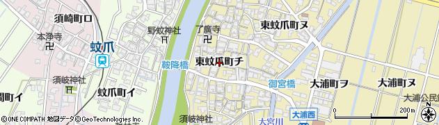 石川県金沢市東蚊爪町(チ)周辺の地図