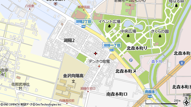 〒920-3103 石川県金沢市湖陽の地図