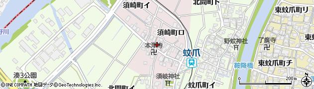 石川県金沢市須崎町周辺の地図