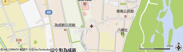 富山県富山市婦中町為成新周辺の地図