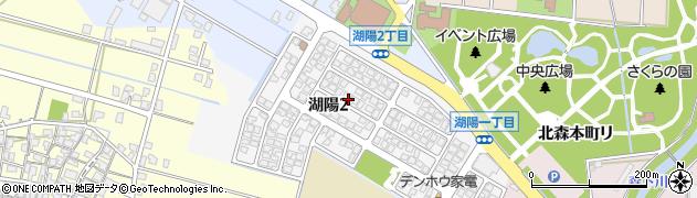石川県金沢市湖陽周辺の地図