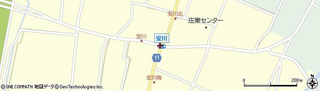 安川周辺の地図
