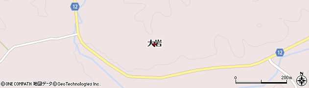 茨城県常陸大宮市大岩周辺の地図
