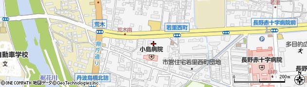 長野県長野市若里西町周辺の地図