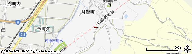石川県金沢市月影町周辺の地図