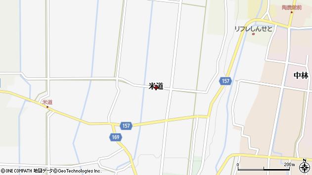 〒930-0243 富山県中新川郡立山町米道(その他)の地図
