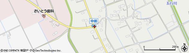 中郷周辺の地図