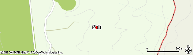 長野県白馬村(北安曇郡)内山周辺の地図