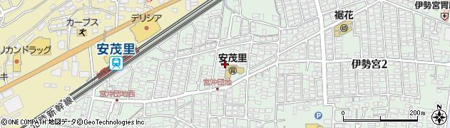 長野県長野市宮沖周辺の地図