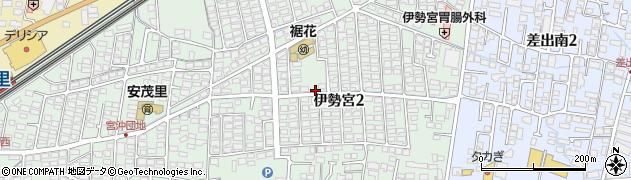 長野県長野市伊勢宮周辺の地図