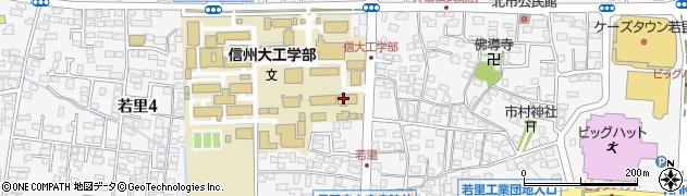 長野県長野市若里周辺の地図