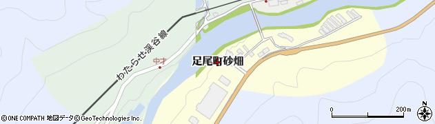 栃木県日光市足尾町砂畑周辺の地図