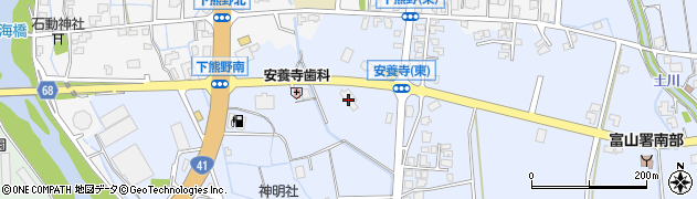 富山県富山市安養寺周辺の地図
