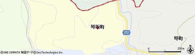 石川県金沢市琴坂町周辺の地図