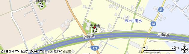 富山県小矢部市西島周辺の地図