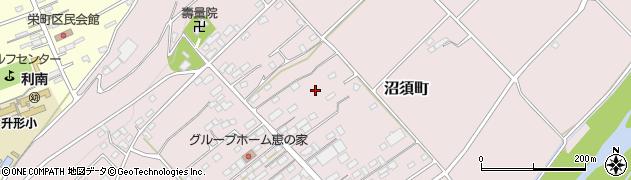群馬県沼田市沼須町周辺の地図