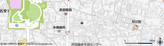 長野県長野市若里北市周辺の地図