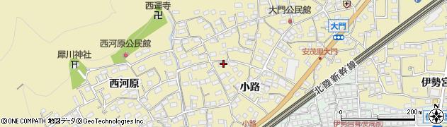 長野県長野市安茂里(小市)周辺の地図