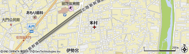長野県長野市安茂里(米村)周辺の地図