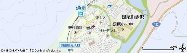 栃木県日光市足尾町松原周辺の地図
