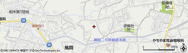 長野県長野市風間周辺の地図