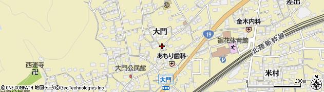 長野県長野市安茂里(大門)周辺の地図