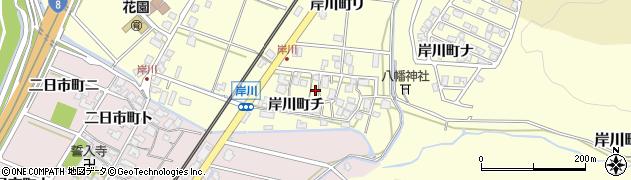 石川県金沢市岸川町(チ)周辺の地図