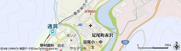 栃木県日光市足尾町赤沢周辺の地図