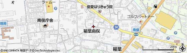 長野県長野市稲葉南俣周辺の地図