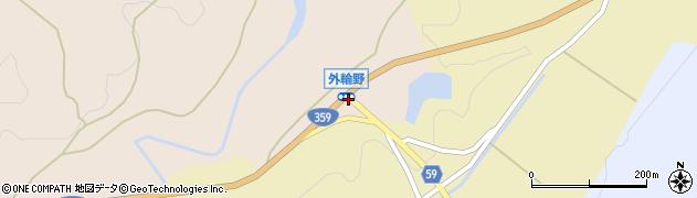 外輪野周辺の地図