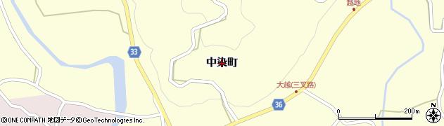 茨城県常陸太田市中染町周辺の地図