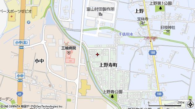 〒939-8197 富山県富山市上野寿町の地図