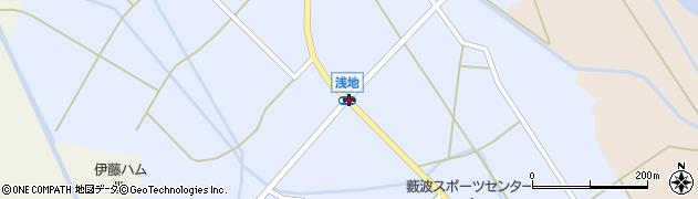 浅地周辺の地図