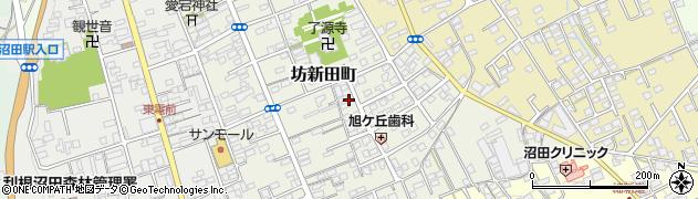 群馬県沼田市坊新田町周辺の地図