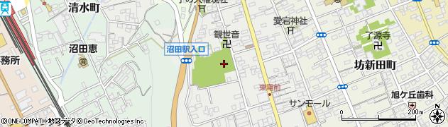 群馬県沼田市鍛冶町周辺の地図
