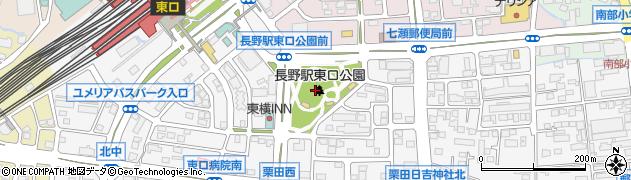 長野県長野市栗田(源田窪)周辺の地図