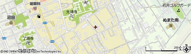 群馬県沼田市材木町周辺の地図