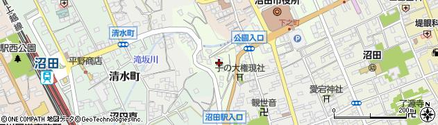 群馬県沼田市下之町周辺の地図