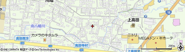 長野県長野市高田周辺の地図