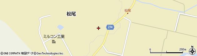 富山県小矢部市松尾周辺の地図
