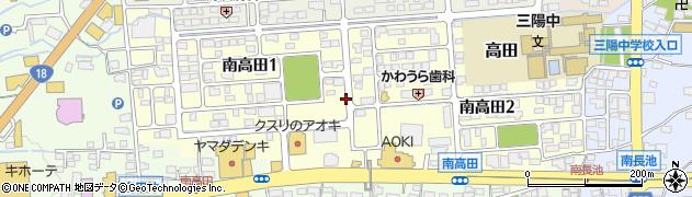 長野県長野市南高田周辺の地図